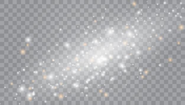 Effetto polvere di stelle. illustrazione di luce bagliore.