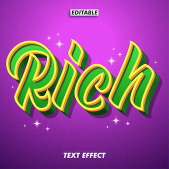 Effetto rich text per un design di fantasia