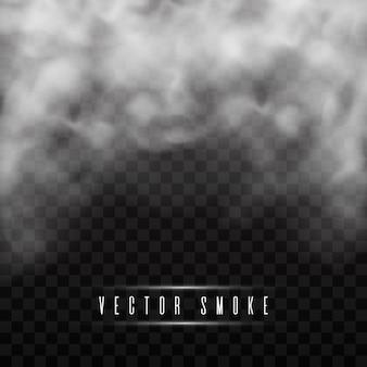 Effetto speciale trasparente isolato fumo o nebbia.