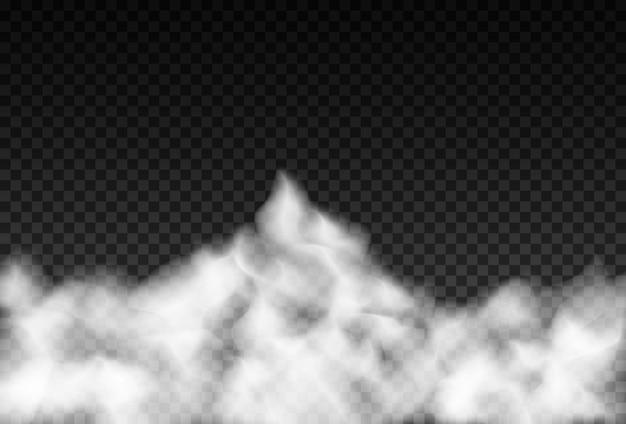 Effetto speciale trasparente isolato fumo o nebbia