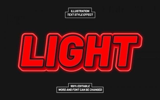 Effetto stile testo a luci rosse