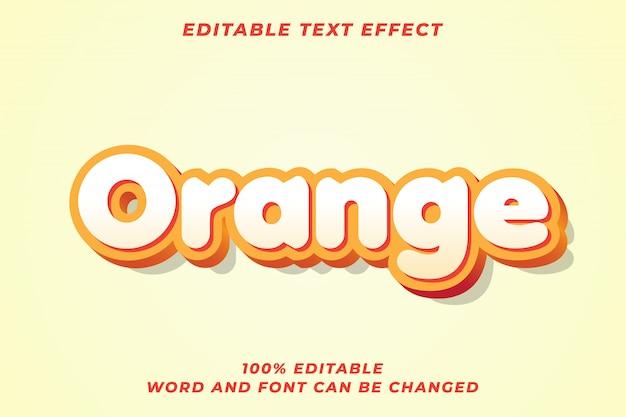 Effetto stile testo arancione