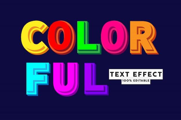 Effetto stile testo colorato, testo modificabile
