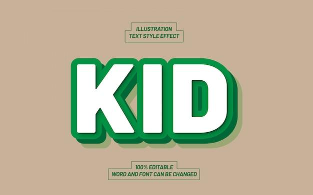 Effetto stile testo grassetto verde per bambini