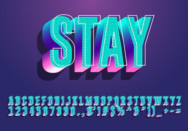 Effetto stile testo moderno con design alfabeto