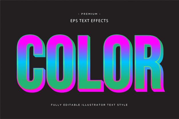 Effetto testo 3d a colori