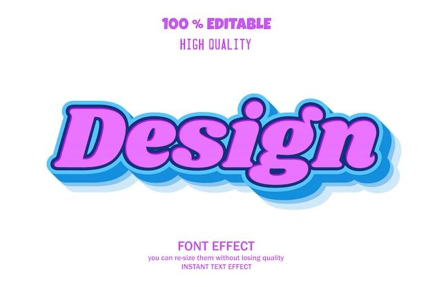Effetto testo 3d moderno, effetto carattere modificabile