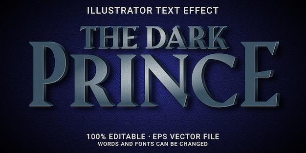 Effetto testo 3d modificabile: lo stile principe oscuro