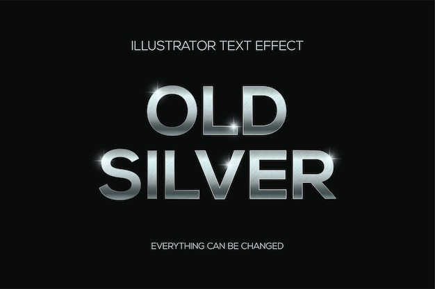 Effetto testo argento antico con graffi