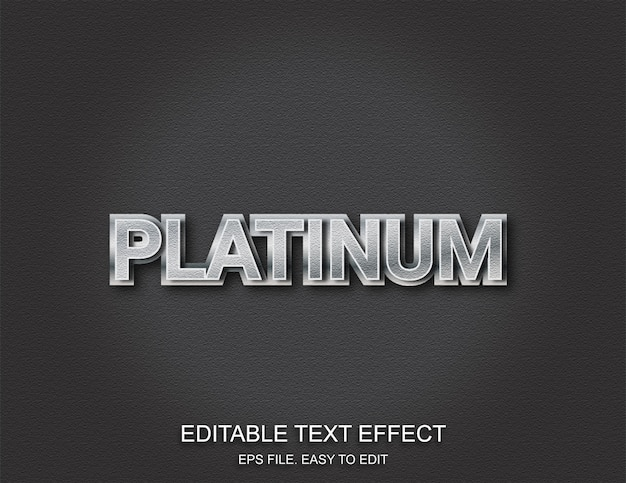 Effetto testo argento platino
