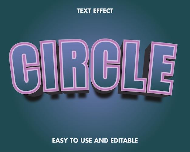 Effetto testo cerchio. stile del carattere modificabile.