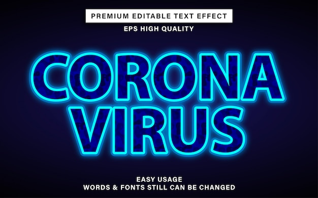 Effetto testo coronavirus