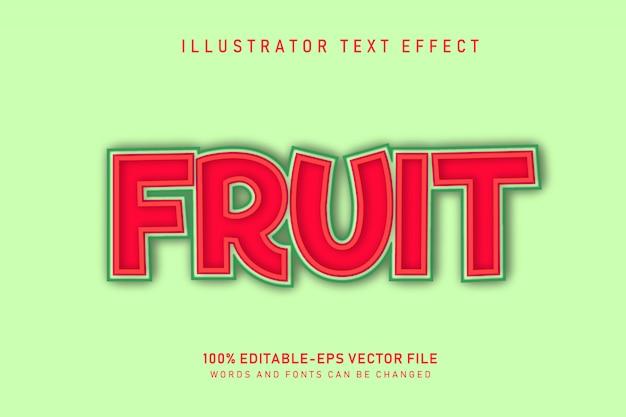 Effetto testo di frutta