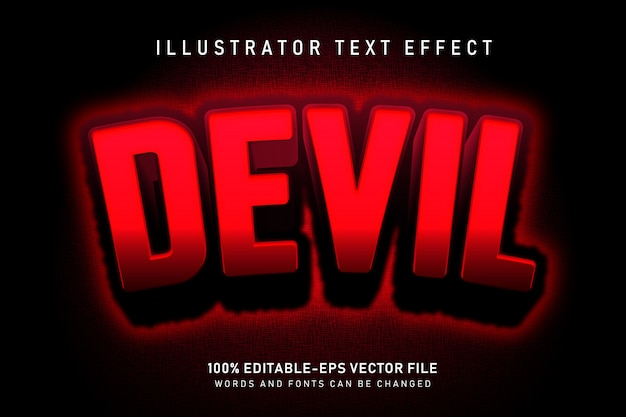 Effetto testo diavolo
