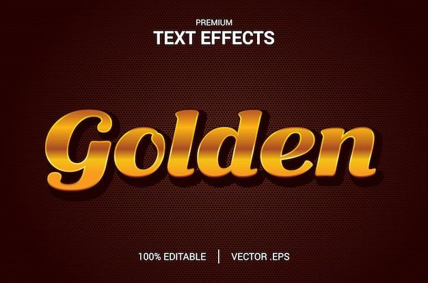 Effetto testo dorato, set elegante effetto testo dorato astratto, effetto carattere modificabile stile testo dorato