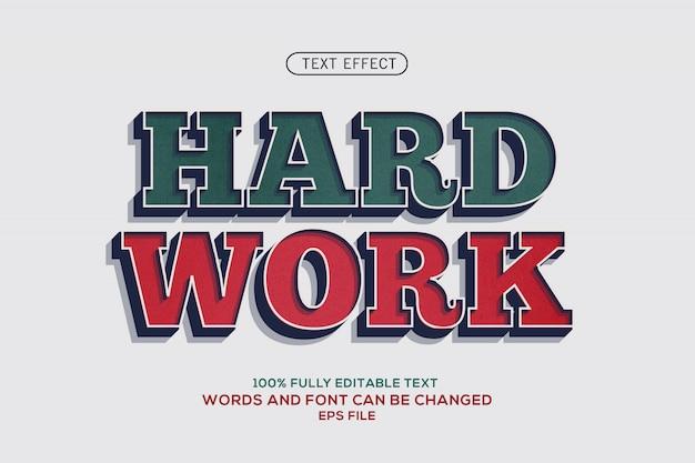 Effetto testo duro lavoro