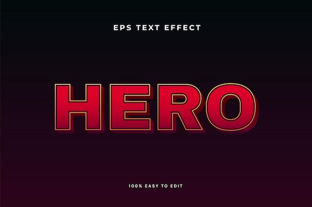 Effetto testo eroe rosso