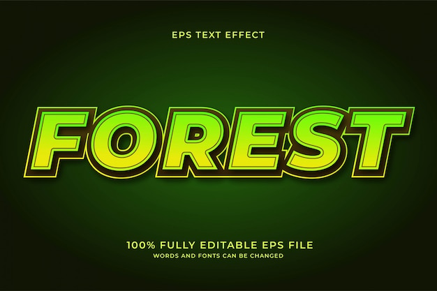 Effetto testo foresta