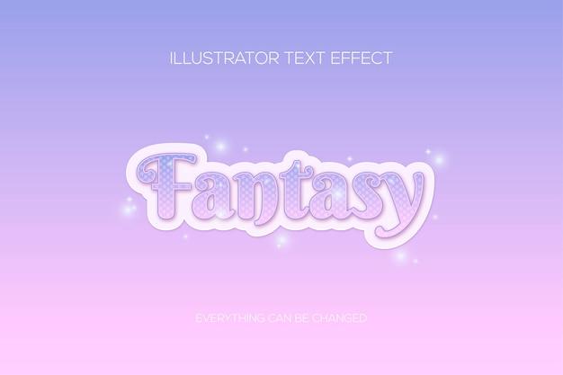 Effetto testo galassia fantasia rosa