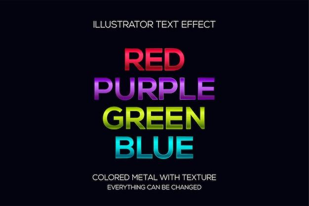 Effetto testo in metalli multicolori