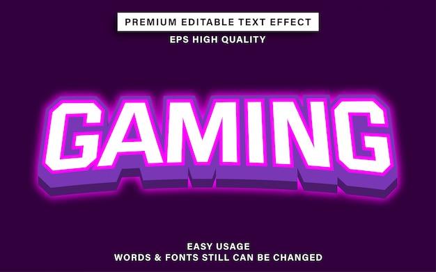 Effetto testo in stile gioco