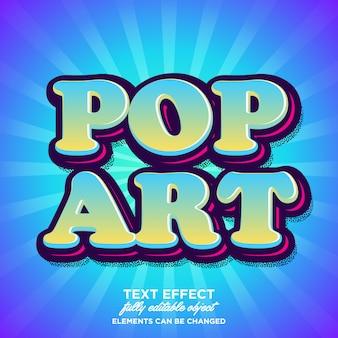 Effetto testo pop art