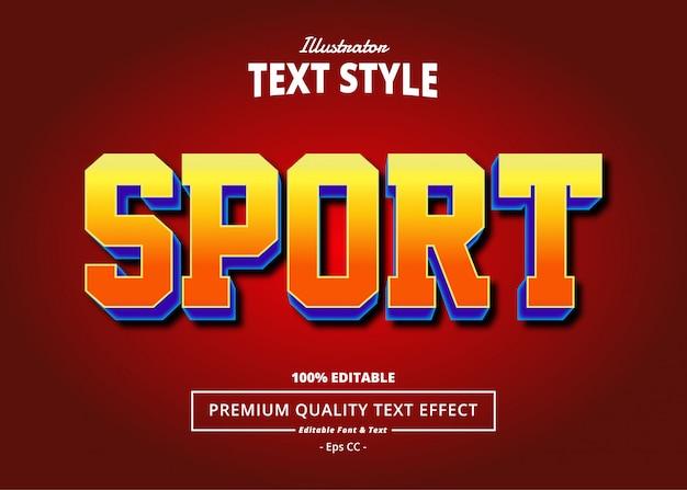 Effetto testo sportivo
