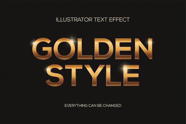 Effetto testo stile dorato e graffi.