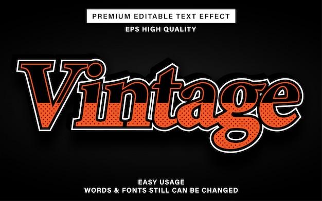 Effetto testo stile vintage