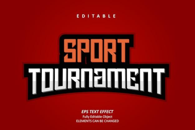 Effetto testo torneo sportivo