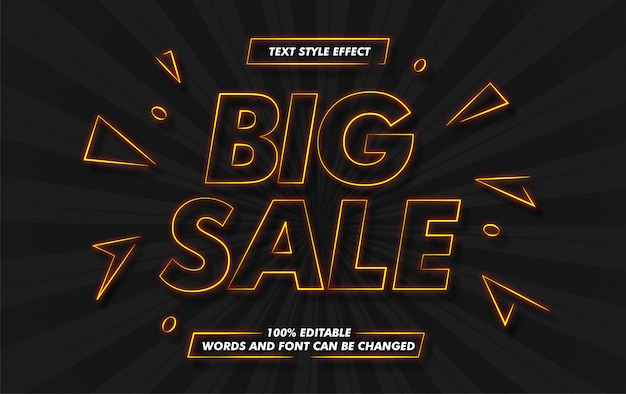 Effetto vendita stile testo grande vendita