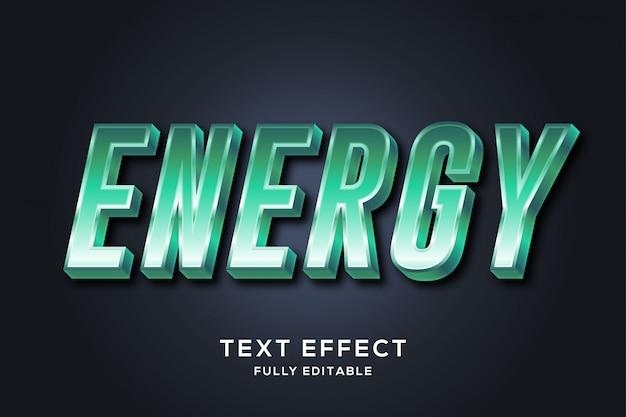 Effetto verde metallico moderno di stile del testo 3d