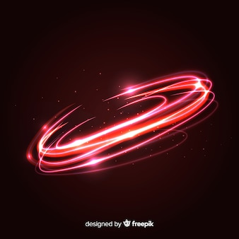 Effetto vortice di luce rossa