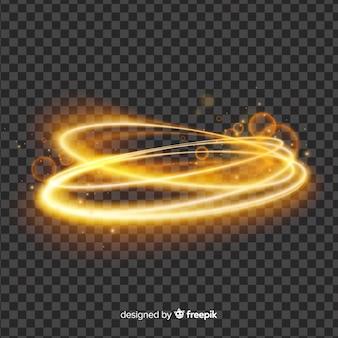 Effetto vortice di luce su sfondo semplice