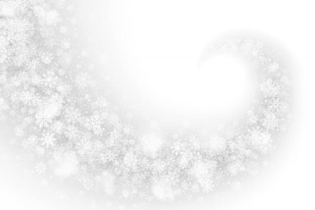 Effetto vorticoso bianco della neve