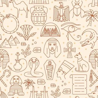 Egitto seamless pattern