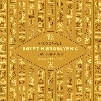 Egitto sfondo geroglifico