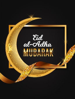 Eid al-adha, festival di sacrificio musulmano di kurban bayrami. illustratore vettoriale