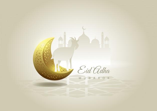 Eid al adha mubarak la celebrazione del background del festival della comunità musulmana