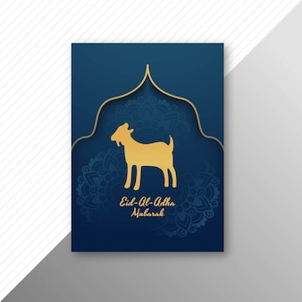 Eid al adha mubarak tradizionale con design brochure di capra