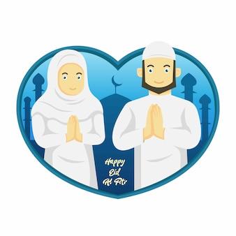 Eid al fitr di persone musulmane e sfondo islamico ramadan.