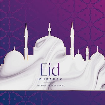 Eid festival mosque design background