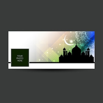 Eid mubarak copertura temporale facebook colorato