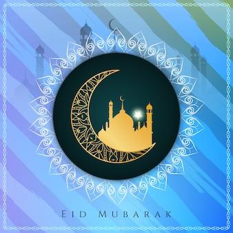 Eid mubarak elegante sfondo