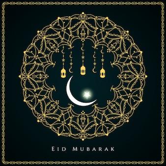 Eid mubarak islamico sfondo di progettazione