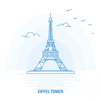 Eiffel tower blue landmark