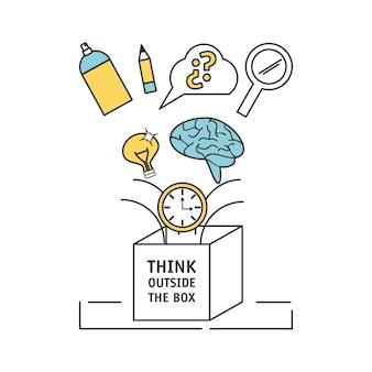 Elabora idee per l'immaginazione creativa e l'innovazione
