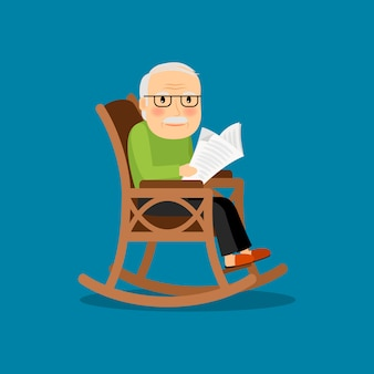 Eldery uomo su sedia a rotelle