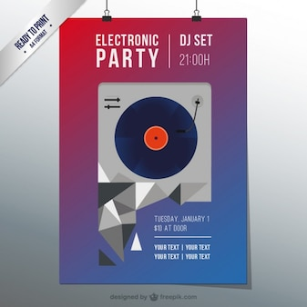 Electro techno party flyer