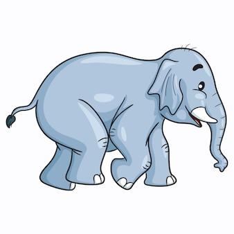Elefante simpatico cartone animato